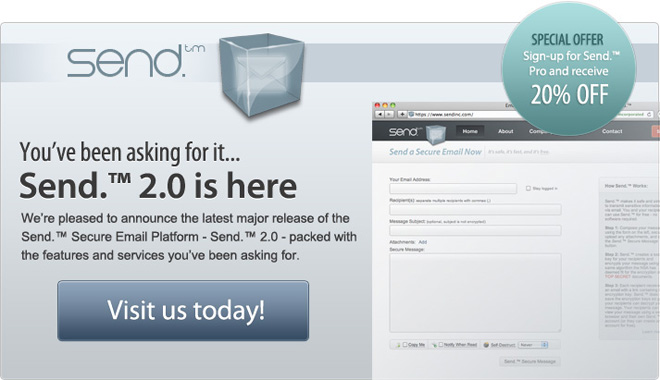 Send.™ 2.0 is here